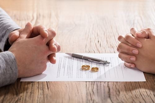 couple divorcing in San Bernardino